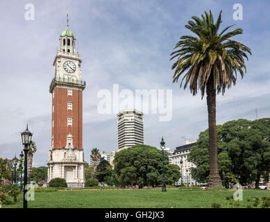 Torre Monumental Clock Tower Plaza San Martin, Buenos Aires, Argentina - Stock Photo