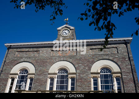 Carmarthen Guildhall, formerly court house - Stock Photo