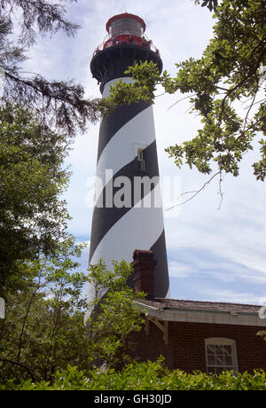 St. Augustine lighthouse, in Anastasia State Park, St. Augustine, Florida. - Stock Photo