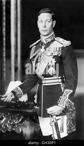 King George VI (1895-1952), who reigned from 1936 until his death in 1952. Photo from Matson Photo Service, between - Stock Photo