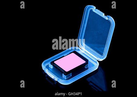 Digital memory cards for use in digital cameras and other devices wherever storage memory is required. - Stock Photo