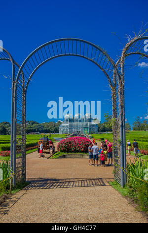 CURITIBA ,BRAZIL - MAY 12, 2016: the botanical park of curitiba was opened to the public on 1991 - Stock Photo