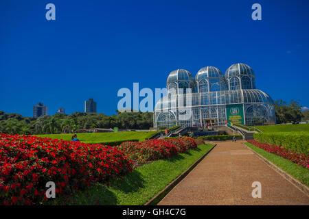CURITIBA ,BRAZIL - MAY 12, 2016: the botanical garden in curitiba also known as jardim botanico fanchette rischbitter - Stock Photo