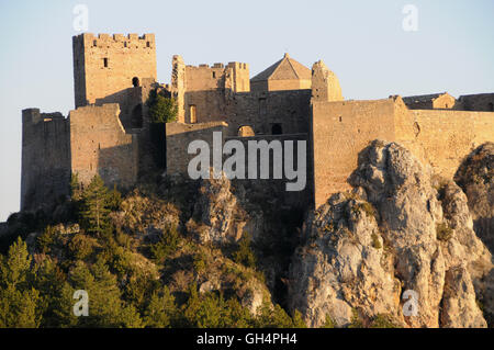 geography / travel, Spain, von Castle Loarre, province Huesca, Aragon, Additional-Rights-Clearance-Info-Not-Available - Stock Photo