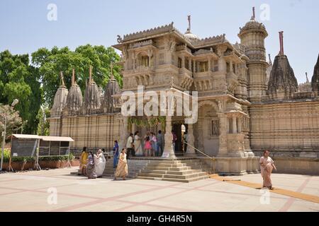 geography / travel, India, Hutheesing Temple of the Jain religion, Jainism, Jain dharma, Ahmedabad, Gujarat federal - Stock Photo