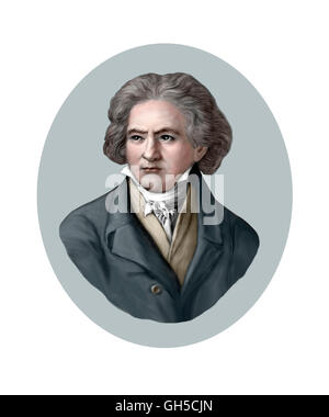 Ludwig van Beethoven, 1770-1827, Composer, Pianist - Stock Photo