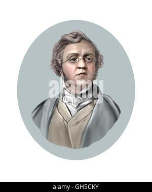 William Makepeace Thackeray, 1811-1863, Novelist - Stock Photo