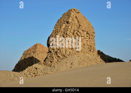 geography / travel, Sudan, pyramid in Nuri, ash-Shamaliyah, Nubia, Additional-Rights-Clearance-Info-Not-Available - Stock Photo