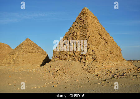 geography / travel, Sudan, pyramid of Nuri, ash-Shamaliyah, Nubia, Additional-Rights-Clearance-Info-Not-Available - Stock Photo