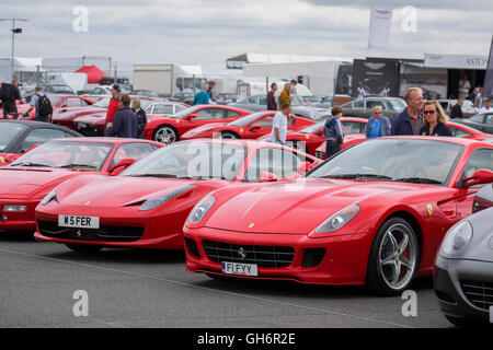 Ferrari Sports Cars Lined Up At The Silverstone Classic Car Event