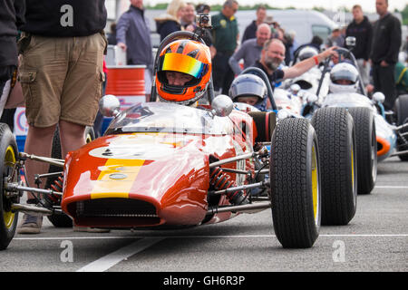 Formula Junior Cars Lined Up On The Parc Ferme Avd Oldtimer