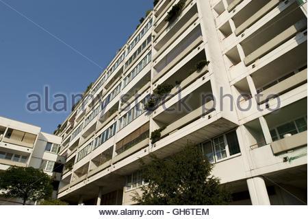 Wien, Wohnhausanlage Am Schöpfwerk, Viktor Hufnagl 1976-1980, Vienna, Council Tenement Block Am Schoepfwerk - Stock Photo