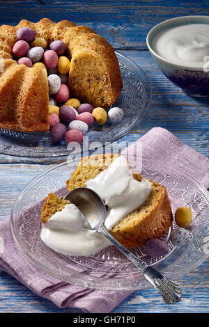 Easter saffron cake - Stock Photo