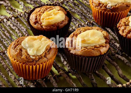 Spiced pumpkin muffins - Stock Photo