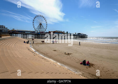 Pleasure Beach is an amusement park situated along the Fylde coast in Blackpool, Lancashire, England. - Stock Photo