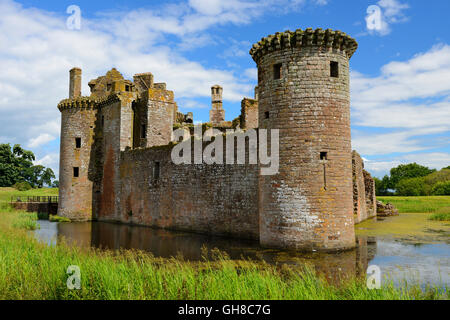 Caerlaverock Castle near Dumfries, Dumfries & Galloway, Scotland - Stock Photo