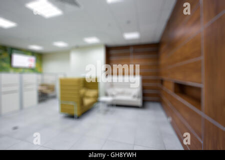 blur image of office room with table and chairs for background usage. - Stock Photo