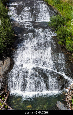 Waterfall along Oh-Be Joyful Trail; off shoulder of Mt. Owen; Gunnison National Forest; near Crested Butte; Colorado; - Stock Photo
