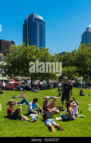 Victor Steinbrueck Park, Seattle, Washington, USA - Stock Photo