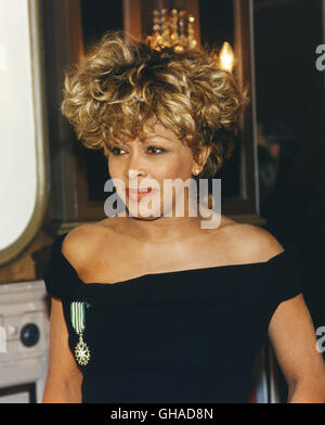 TINA TURNER artist in Stockholm at press conference - Stock Photo