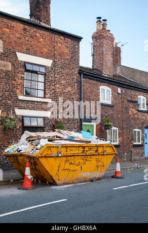 The Lancashire village of Croston was one of the worst affected in the area by the Boxing Day floods in 2015. - Stock Photo