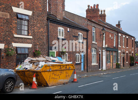 The Lancashire village of Croston was one of the worst affected in the area by the Boxing Day floods in 2015, UK. - Stock Photo