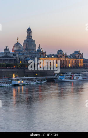 geography / travel, Germany, Saxony, Dresden, Frauenkirche (Church of Our Lady), art gallery in the Lipsius building - Stock Photo