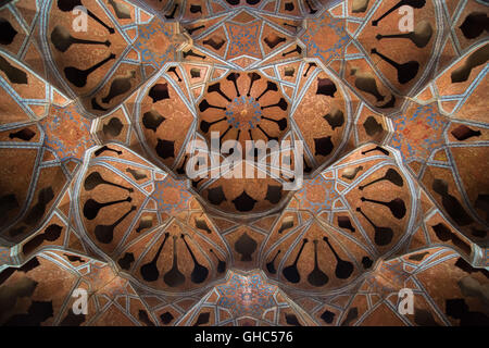 The roof of the Music (Acoustic) room in Ali Qapu, Isfahan - Stock Photo