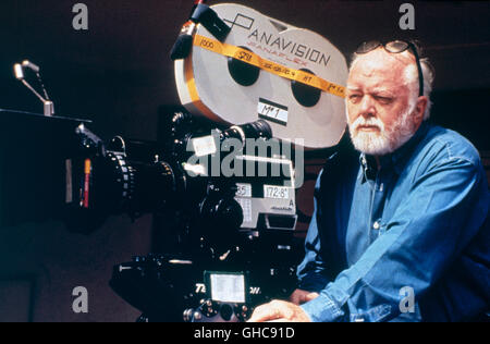 English Director and Actor Sir RICHARD ATTENBOROUGH (with Panavision cine camera) during the shooting ' In Love - Stock Photo