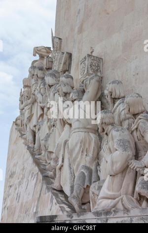 Padrão dos Descobrimentos (Monument to the Discoveries) in Lisbon Portugal - Stock Photo