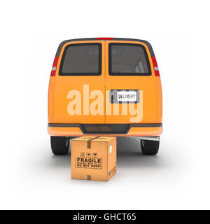 Delivery service car '3d rendering' - Stock Photo