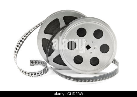 rolls of film isolated on white background - Stock Photo