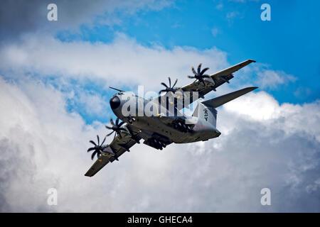 Airbus Military A400M, EC-406, F-WWMZ, at the Royal International Air Tattoo 2016, RAF Fairford, Gloucestershire,United - Stock Photo