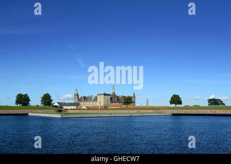 Kronborg Castle of Hamlet in Denmark - Stock Photo