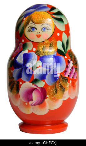Russian nesting doll. Matryoshka - Stock Photo