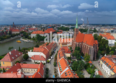 Wroclaw. Image of Wroclaw, Poland during summer day. - Stock Photo