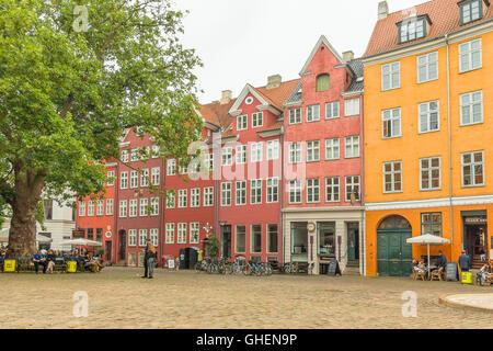 Grabrodretorv is a public square with restaurants in the centre of Copenhagen, Denmark - Stock Photo