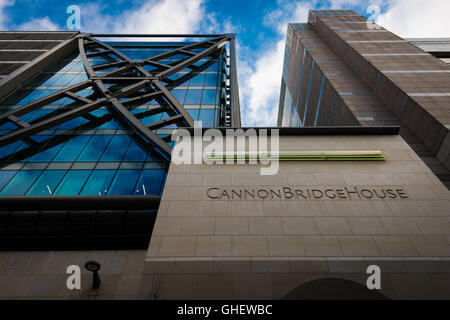 Cannon Bridge House office building in the City of London, London, United Kingdom - Stock Photo