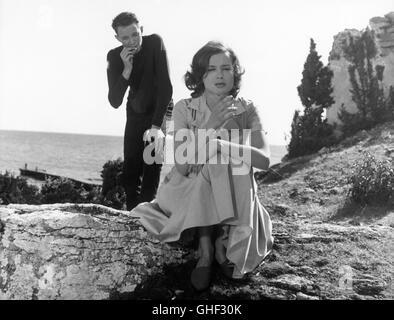 WIE IN EINEM SPIEGEL Sasom i en spegel Schweden 1961 Ingmar Bergman LARS PASSGARD (Fredrik/Minus) and HARRIET ANDERSSON - Stock Photo