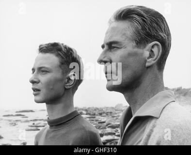 WIE IN EINEM SPIEGEL Sasom i en spegel Schweden 1961 Ingmar Bergman LARS PASSGARD (Fredrik/Minus), GUNNAR BJÖRNSTRAND - Stock Photo