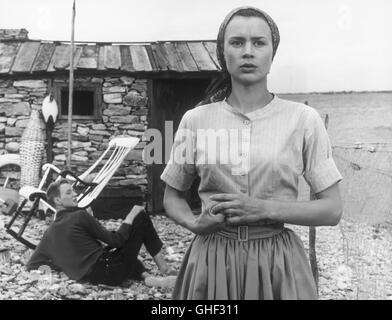 WIE IN EINEM SPIEGEL Sasom i en spegel Schweden 1961 Ingmar Bergman LARS PASSGARD (Fredrik/Minus), HARRIET ANDERSSON - Stock Photo