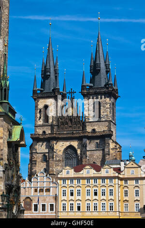 Church Of The Virgin Mary One Of The Main Symbols Of Prague Stock