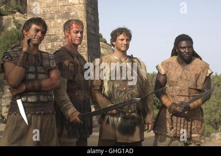 RUPERT FRIEND (Demetrius), OWEN TEALE (Vatrenus), COLIN FIRTH (Aurelius), NONSO ANOZIE (Batiatus) Regie: Doug Lefler - Stock Photo