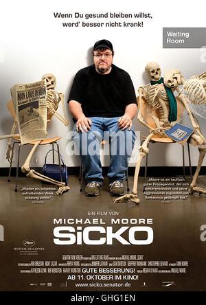 Sicko / Filmplakat Regie: Michael Moore aka. Sicko - Stock Photo