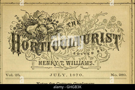 The Horticulturist and journal of rural art and rural taste (1870) - Stock Photo