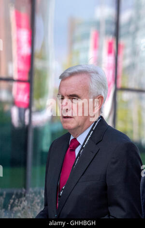 Liverpool, UK . 28th September, 2016. Final Day Labour Party Conference: John Mcdonnell MP, member of parliament - Stock Photo