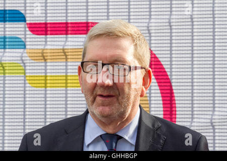 Liverpool, UK . 28th September, 2016. Final Day Labour Party Conference:  Leonard David 'Len' McCluskey is an English - Stock Photo