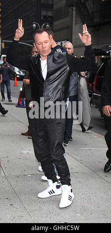 NEW YORK, NY- SEPTEMBER 28: Donnie Wahlberg at The Late Show with Stephen Colbert promoting the new season of Blue - Stock Photo