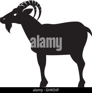 goat animal capricorn icon vector graphic - Stock Photo