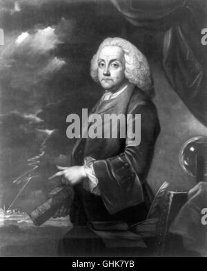 Benjamin Franklin, 'Experiments with Electricity' - Stock Photo